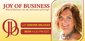 Joy Of Business Radio Show with Simone Milasas - header